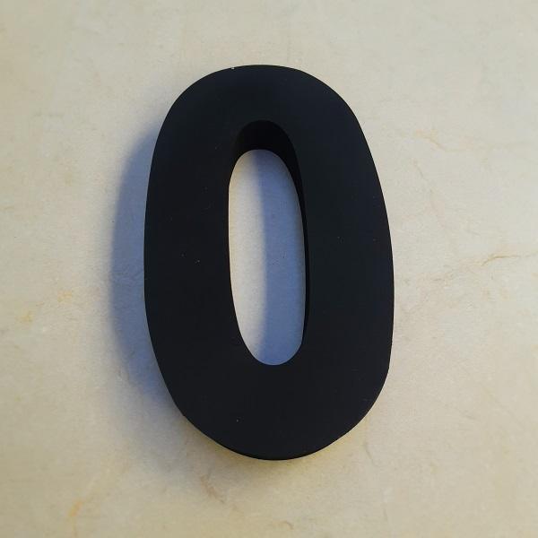 NÚMERO RESIDENCIAL METAL PRETO FOSCO - 20cm