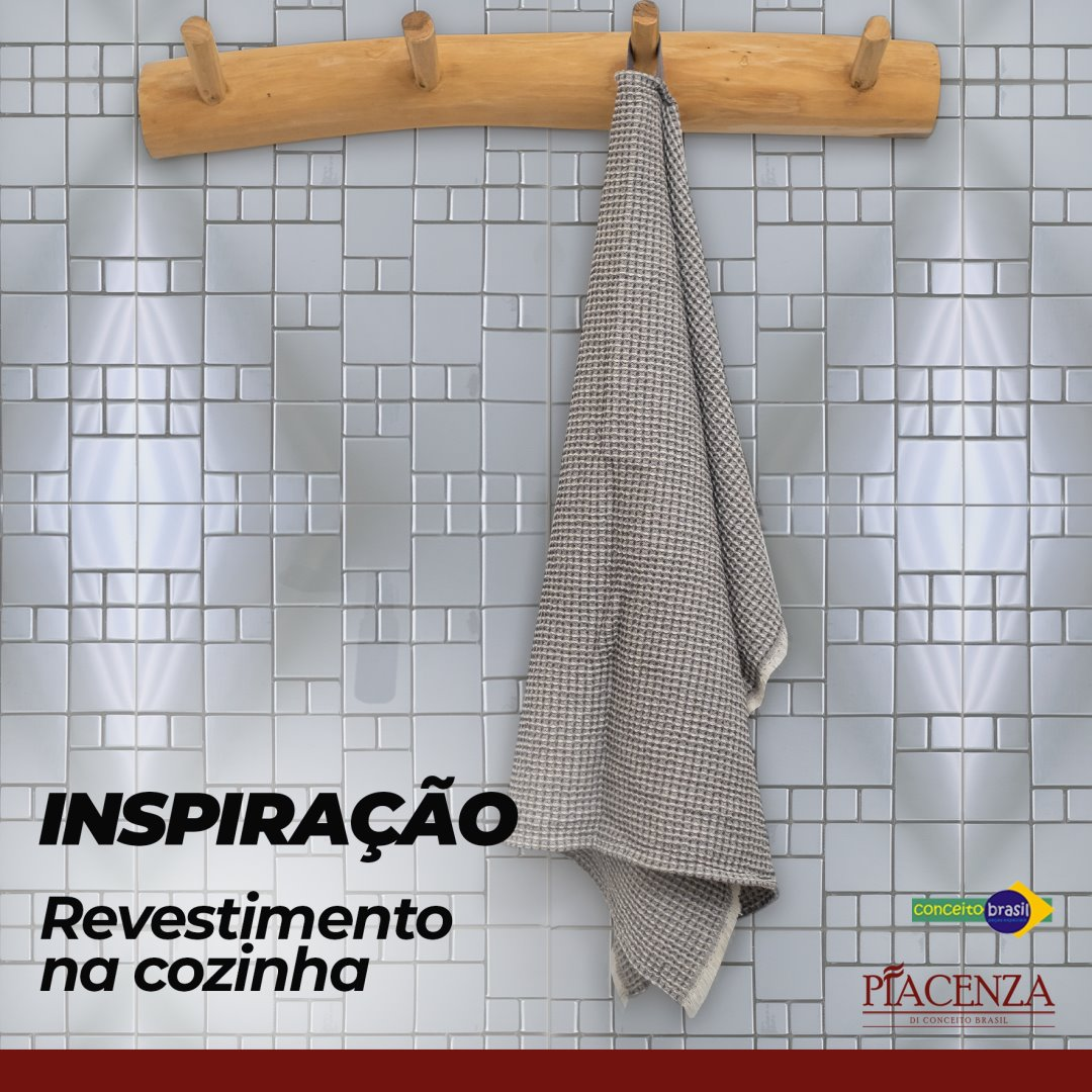 PASTILHA CONCEITO BRASIL INOX MONDRIAN | [30X30cm]