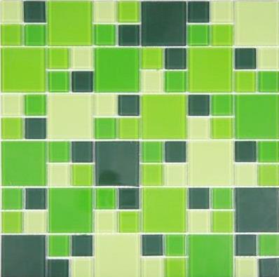 Pastilha Conceito Brasil Verde Garrafa Mondrian 30x30cm