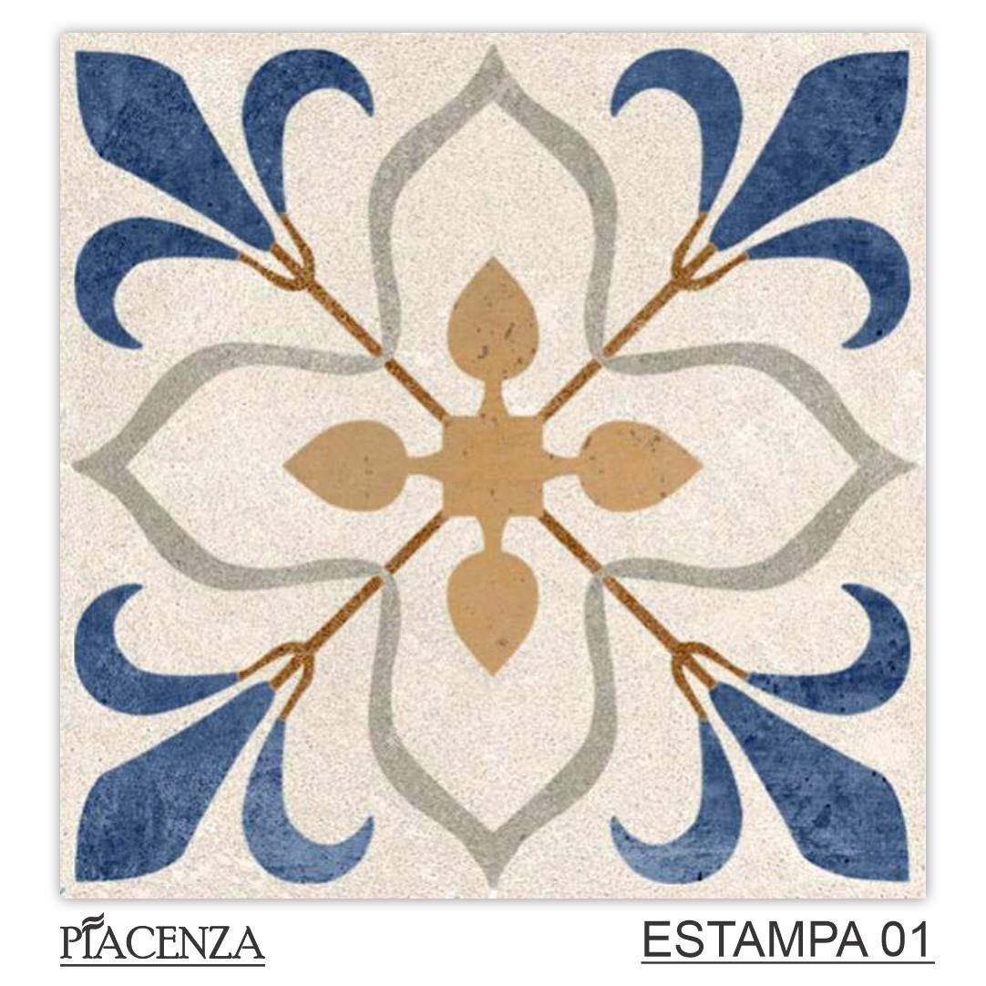 Piso e Revestimento Cerâmico PIASTRELLE COLÔNIA RETIFICADO   [20x20cm]   vendido por peça