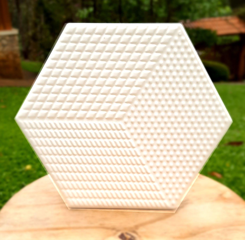 Piso e Revestimento Cerâmico PIASTRELLE HEX-BIANCO   17,5x20cm  vendido por peça