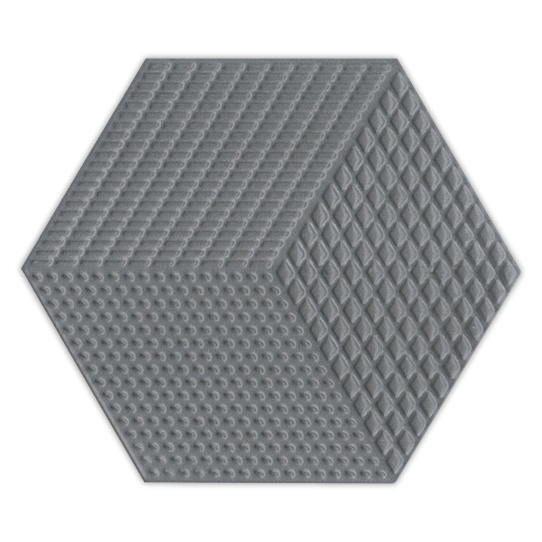 Piso e Revestimento Cerâmico PIASTRELLE HEX-GRIS SCURO | [17,5x20cm] | venda por peça