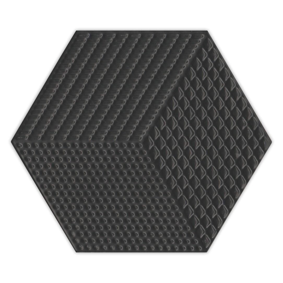 Piso e Revestimento Cerâmico PIASTRELLE HEX-NEGRO   [17,5x20cm]  vendido por peça