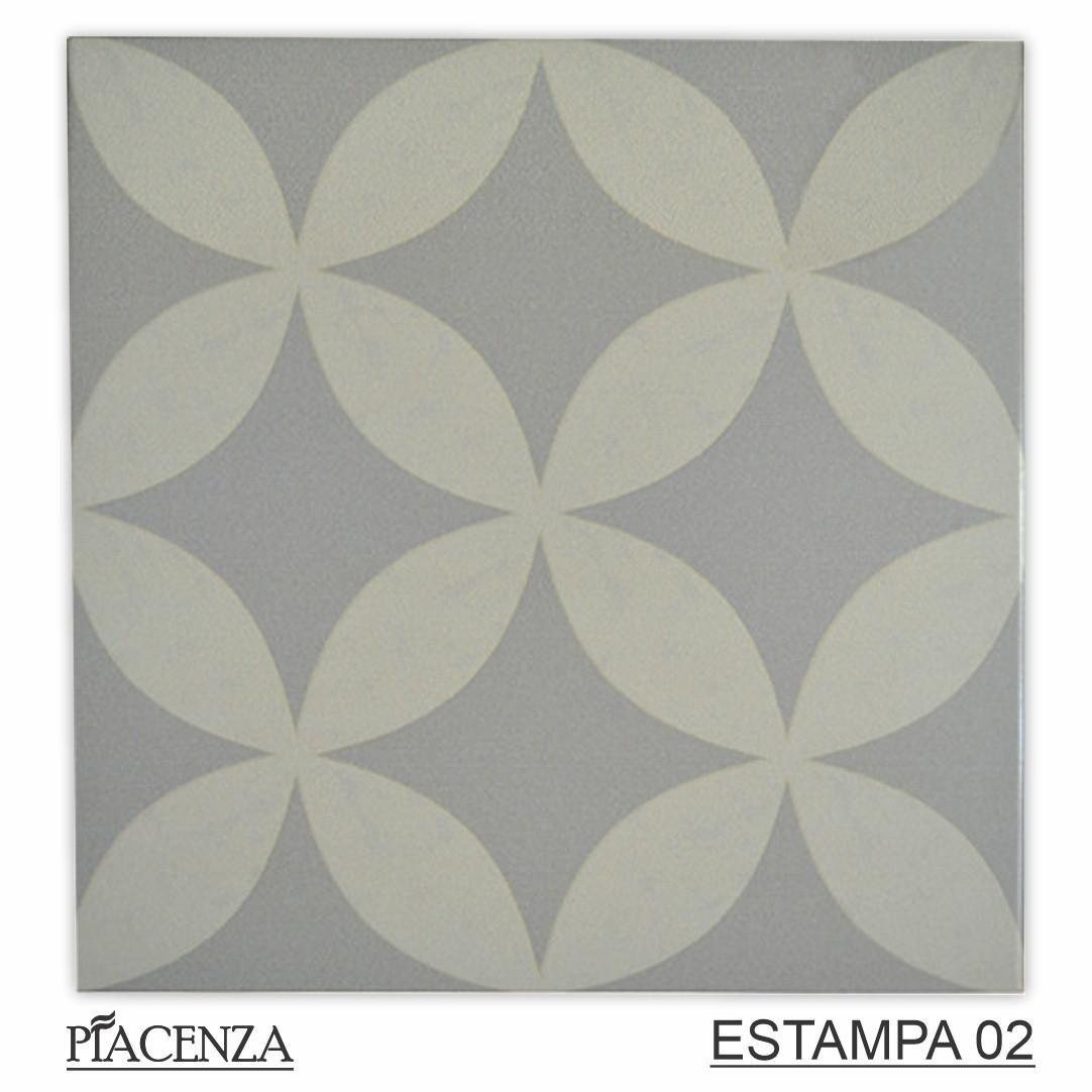 Piso e Revestimento Cerâmico PIASTRELLE TONO SU TONO GRIGIO   [20,5x20,5cm]   vendido por peça