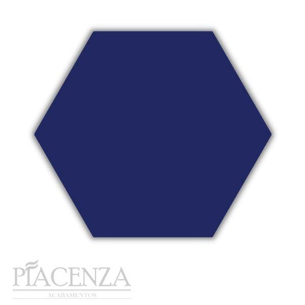 Piso e Revestimento HEXAGONAL AZUL ACETINADO CERAL   23X20cm   *valor da caixa