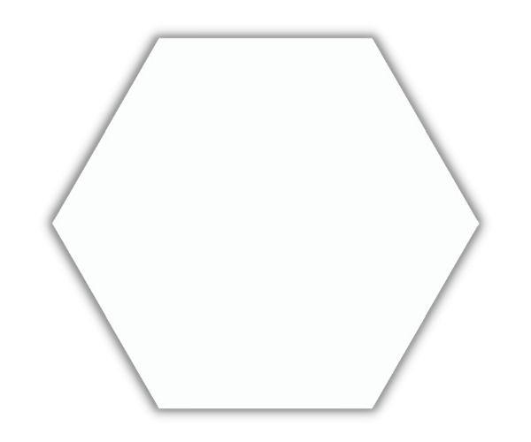 Piso e Revestimento HEXAGONAL BRANCO BRILHANTE CERAL | 23X20cm | *valor da caixa