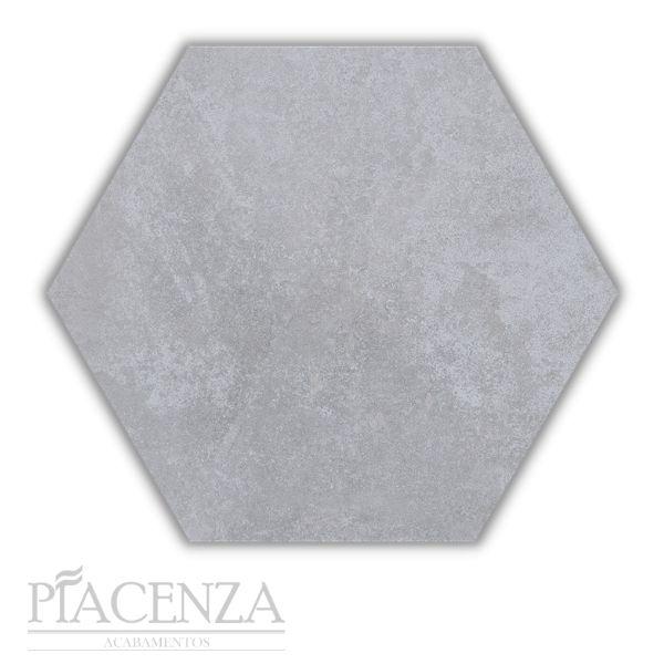 Piso e Revestimento HEXAGONAL CIMENTO ACETINADO CERAL | 23X20cm | *valor da caixa