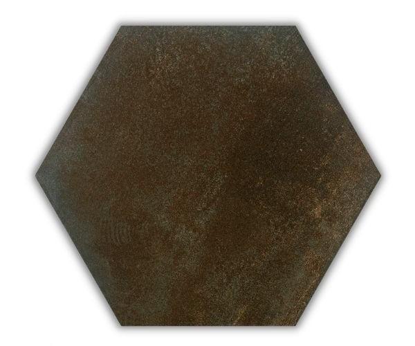 Piso e Revestimento HEXAGONAL CORTEN ACETINADO CERAL   23X20cm   *valor da caixa