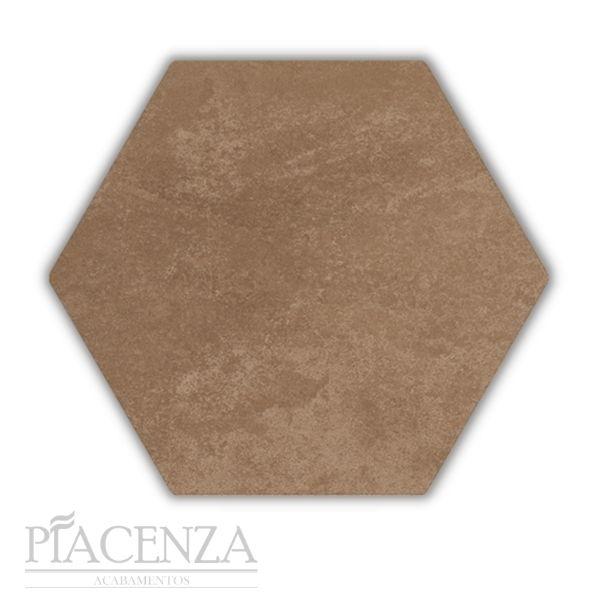 Piso e Revestimento HEXAGONAL COTTO ACETINADO CERAL   23X20cm   *valor da caixa