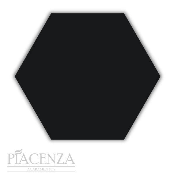 Piso e Revestimento PEÇA HEXAGONAL PRETO ACETINADO CERAL | 23X20cm | *valor da peça
