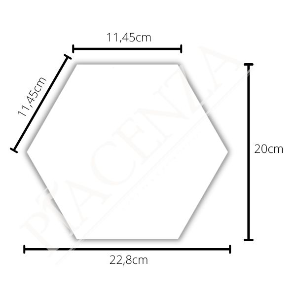 Piso e Revestimento HEXAGONAL PRETO ACETINADO CERAL | 23X20cm | *valor da caixa