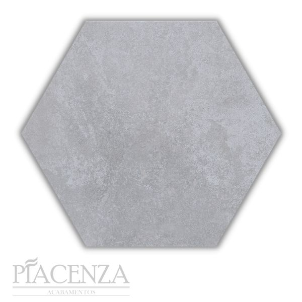 Piso e Revestimento Peça HEXAGONAL CIMENTO ACETINADO CERAL   23X20cm   *valor da peça