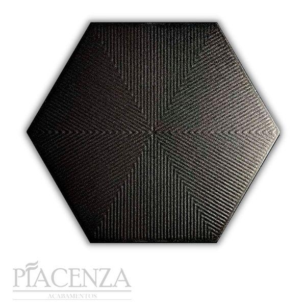 Revestimento HEXAGONAL CONNECT BLACK CERAL | 23X20cm | *valor da caixa