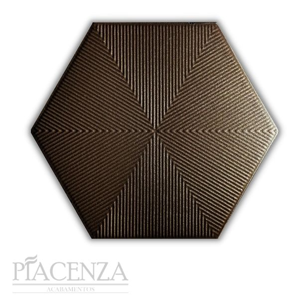 Revestimento HEXAGONAL CONNECT BROWN CERAL | 23X20cm | *valor da caixa