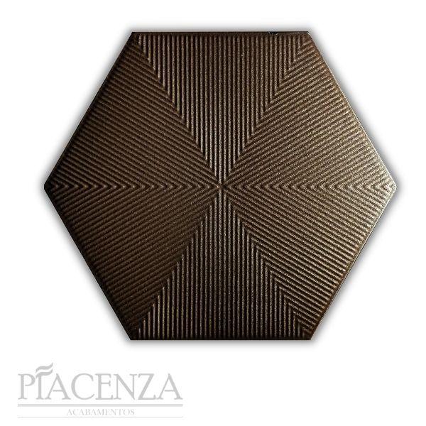 Revestimento PEÇA HEXAGONAL CONNECT BROWN CERAL | 23X20cm | *valor da peça