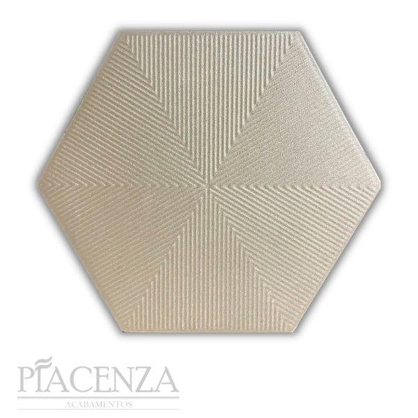 Revestimento HEXAGONAL CONNECT SAND CERAL   23X20cm   *valor da caixa