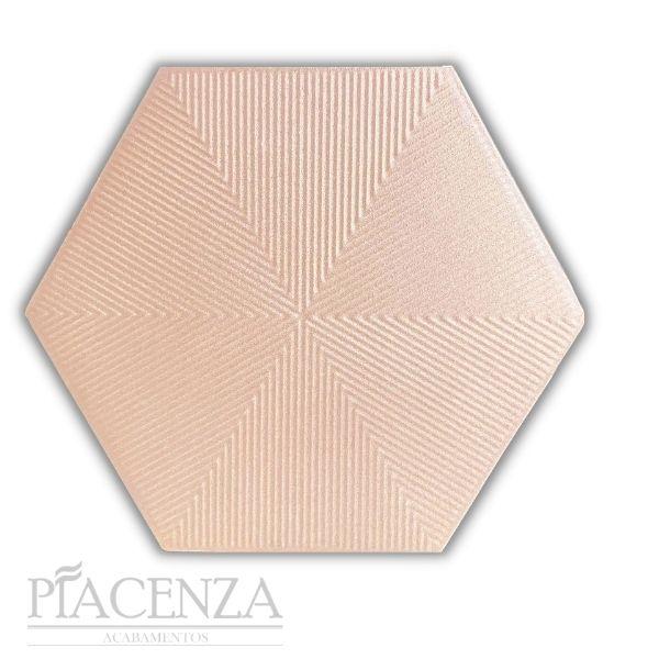 Revestimento PEÇA HEXAGONAL CONNECT SOFT PINK CERAL | 23X20cm | *valor da peça