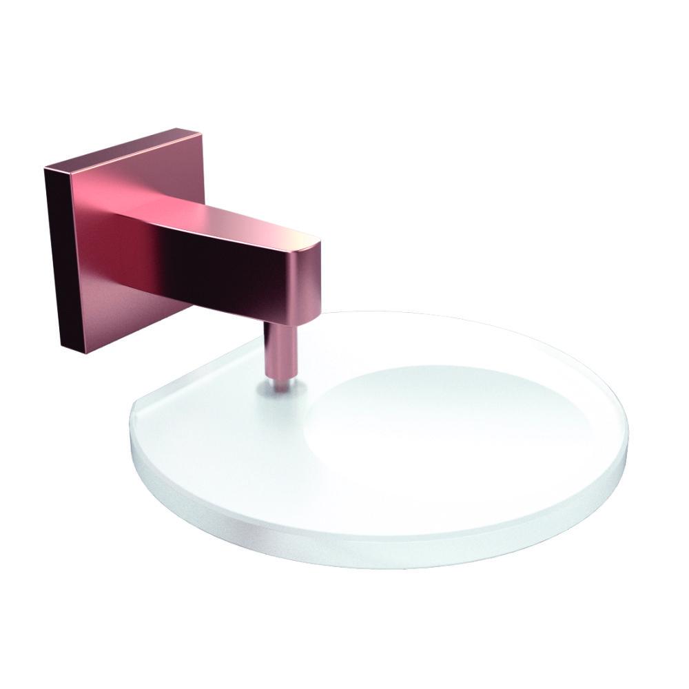 Saboneteira com Vidro Linha Vite METAL Preto fosco - Cromado - Rosê Matte | ROMAR METAIS