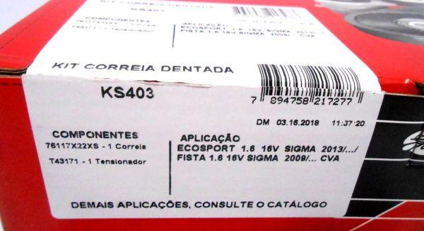 Kit Tensor e Correia Dentada KS403