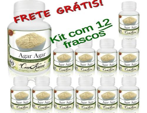 12 Frascos De Agar-agar Comkasca