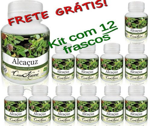 12 Frascos De Alcaçus Comkasca