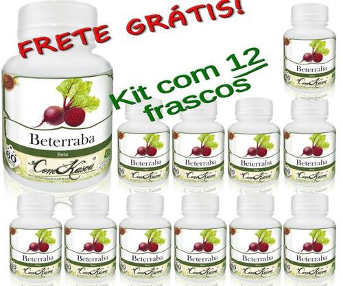 12 Frascos De Beterraba Comkasca ( 100 % Natural )