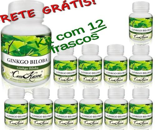 12 Frascos De Ginkgo Biloba