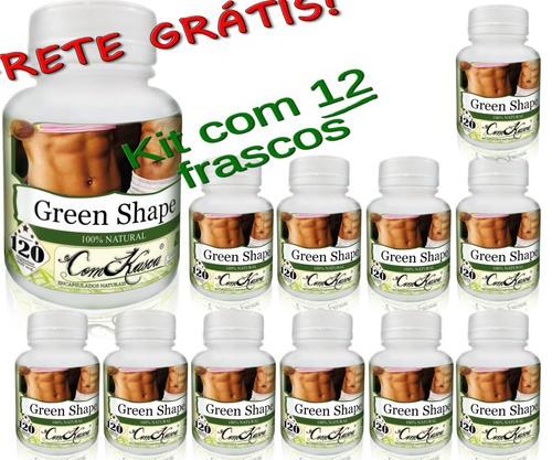 12 Frascos De (green-shape) Emagrecedor Comkasca