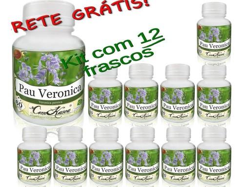 12 Frascos De Pau Veronica (previne Enxaqueca E Má Digestão)
