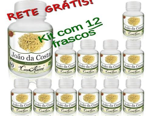 12 Frascos João Da Costa (previne Artrites,cólica E Dores)