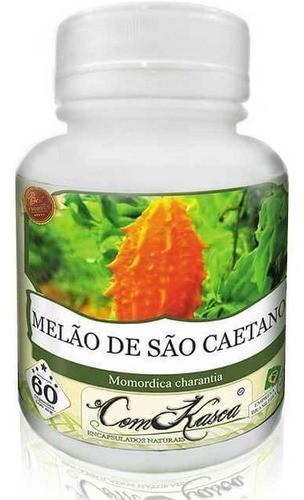 12 potes de 60 cápsulas de Melão de São Caetano