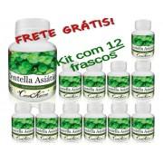 12 Frascos De Centella Asiática (gotu Kola) - 720 Cápsulas