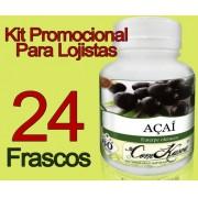 24 Frascos De Açai Comkasca Natural