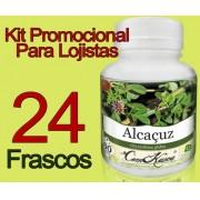 24 Frascos De Alcaçus Comkasca