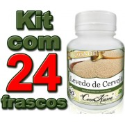 24 Frascos De Levedo De Cerveja (saccharomyces Cerevisiae)
