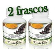 2 Curcuma C/ P/ginseng/maca Per./ginkgo B./marapuama/guaraná