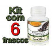 3 Frascos Curcuma C Piperina+3 Garcinia Cambogia 1 Trubulus