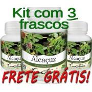 3 Frascos De Alcaçus Comkasca
