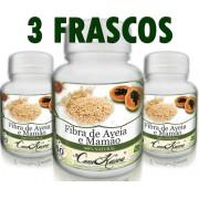3 Frascos De Fibra De Aveia E Mamão - Fonte De Vitaminas