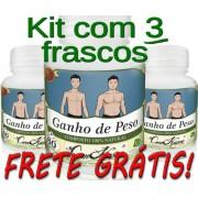 3 Frascos De Ganho De Peso ( 100% Natural )