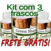 3 Frascos De (green-shape) Emagrecedor