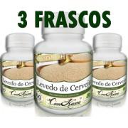 3 Frascos De Levedo De Cerveja (ajuda Na Digestão)