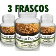 3 Frascos De Linhaça Dourada - Rica Em Nutrientes