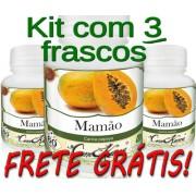 3 Frascos De Mamão Comkasca ( 100 % Natural )