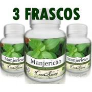 3 Frascos De Manjericão - Melhora A Visão