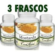 3 Frascos De Mostarda - Protege O Fígado