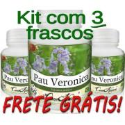 3 Frascos De Pau Veronica (previne Enxaqueca E Má Digestão)