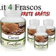 4 Potes De Cacau (theobroma Cacao) Em Cápsulas