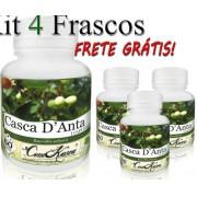 4 Potes De Casca D'anta (drimys Winteri) Em Cápsulas
