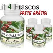 4 Potes De Salsaparrilha(smilax Aspera)cápsulas+frete Grátis